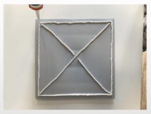 3D falpanel telepítése - ragasztóanyag felvitele