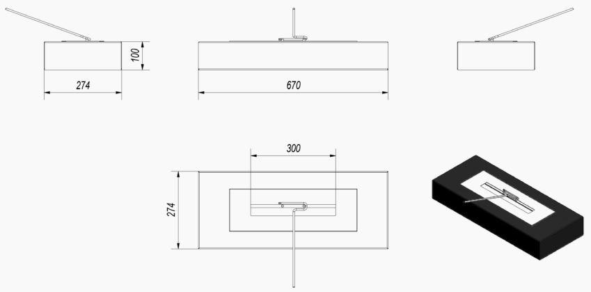 India Cebu Max asztali biokandalló méretei - neofloorshop.hu