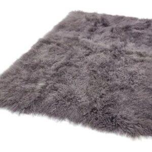 Mantra szürke gyapjú szőrme szőnyeg - neofloorshop.hu