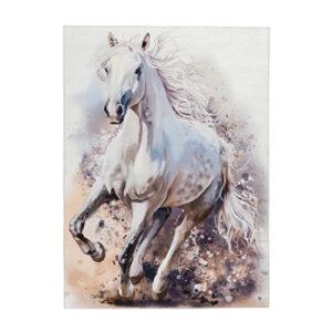 MyTorino Kids fehér ló mintás gyerekszőnyeg - neofloorshop.hu
