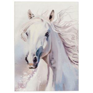 MyTorino Kids 237 fehér ló mintás gyerekszőnyeg - neofloorshop.hu