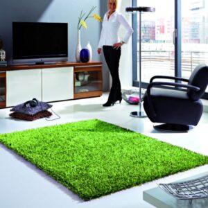 Ravenna zöld színű shaggy szőnyeg - neofloorshop.hu