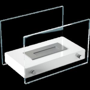 Hotel MINI asztali biokandalló fehér színben - neofloorshop.hu