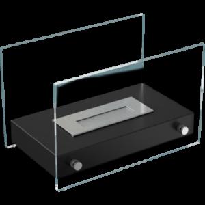 Hotel MINI asztali biokandalló fekete színben - neofloorshop.hu