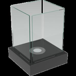 Tango-XL fekete színű asztali biokandalló - neofloorshop.hu