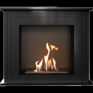 June fekete színű szabadonálló, füstmentes biokandalló