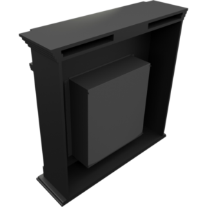 Levente fekete szabadonálló, füstmentes biokandalló