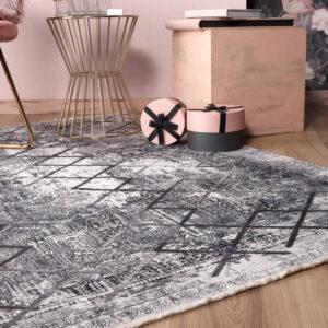 Valencia 633 szürke színű modern mintás szőnyeg - neofloorshop.hu